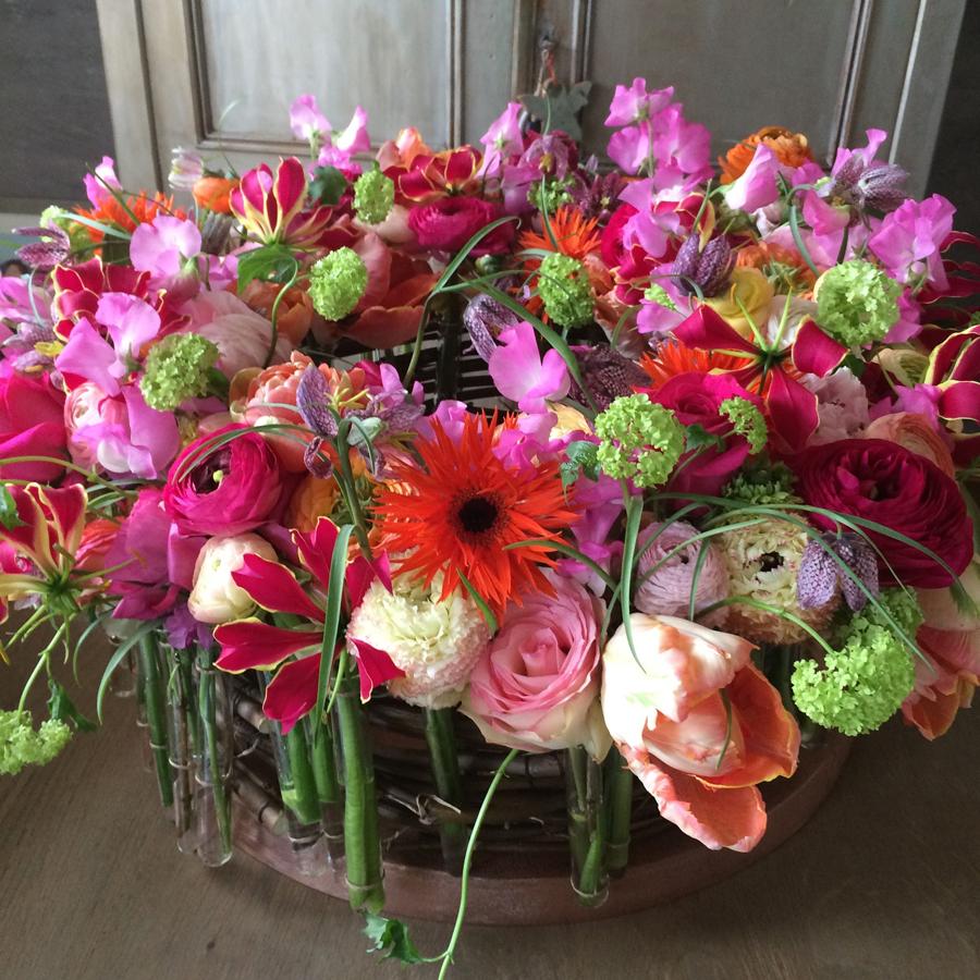 Bloemen in je huis | Gekleurde bloemenkrans - reageerbuisjes
