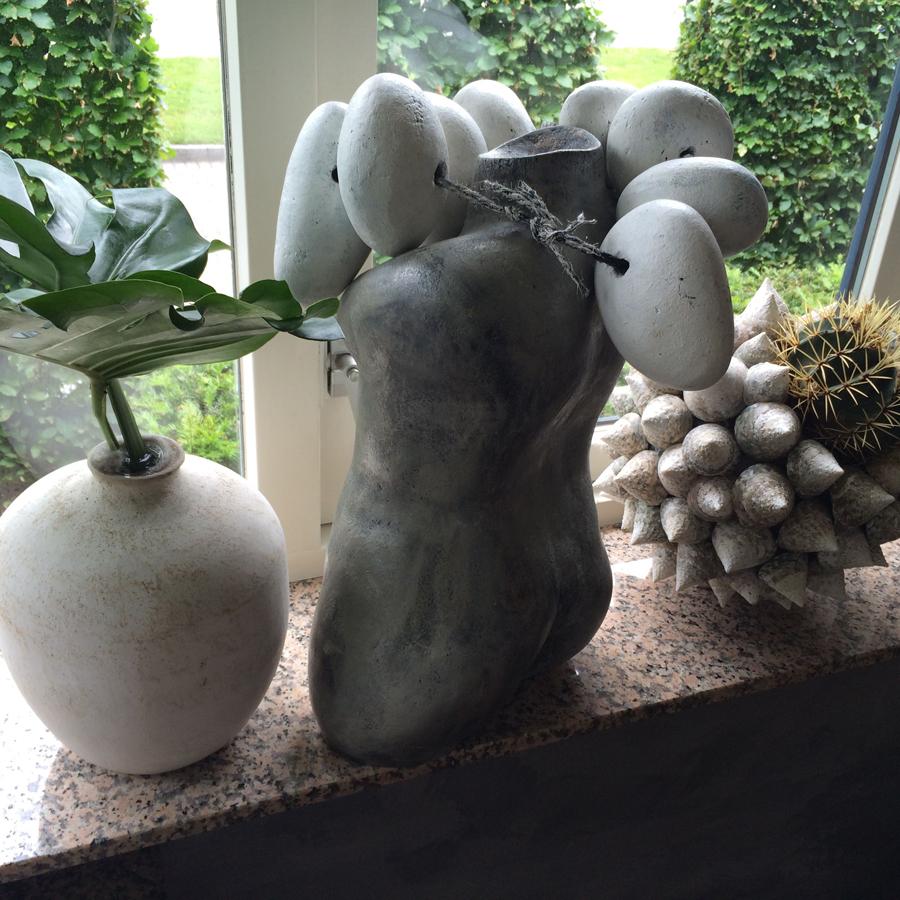 Bloemen in je huis | Schelpenvaas-met-cactus