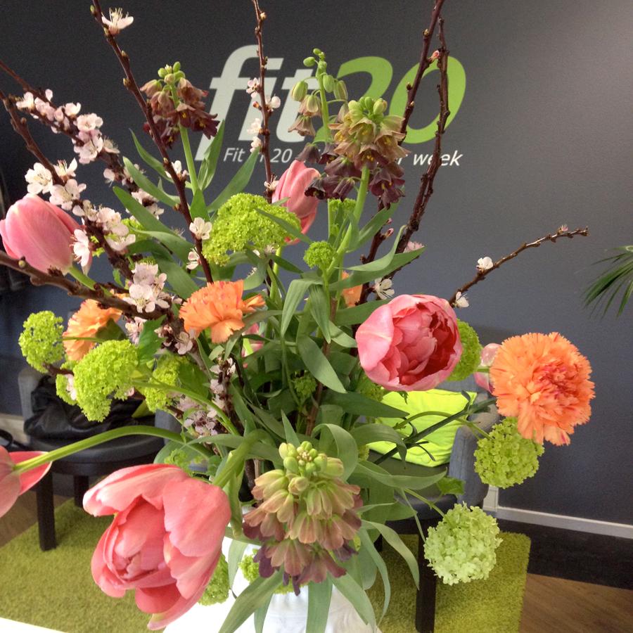 Bloemen in de ontvangstruimte