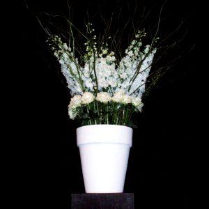 Bloemen en events | Zwart-wit-eyecatcher